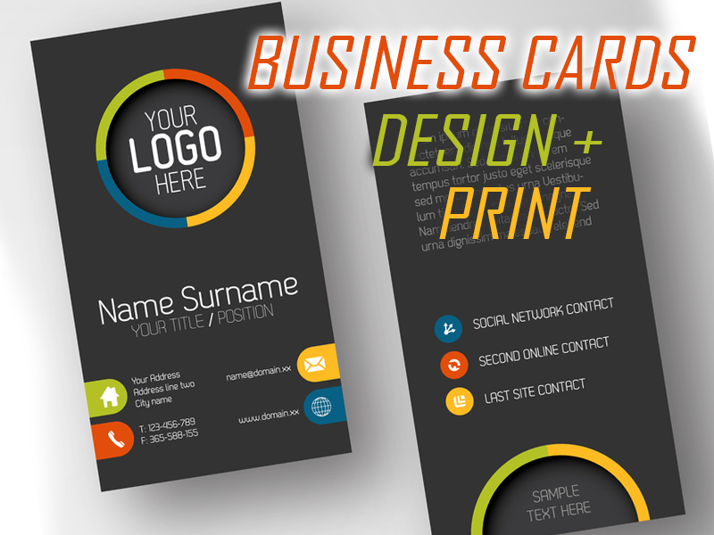 BUSINESS CARDS DESIGN PRINT