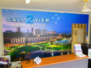 call 2 view wall mural