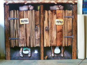 custom shed sign_toilet outback