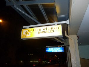 illuminated cantilever sign