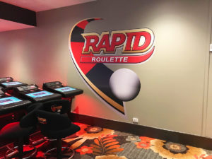 RAPID ROULETTE CUT TO SHAPE WALL GRAPHIC