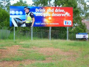 Drink drive message