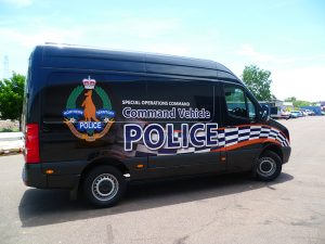 Reflective 3M vehicle wrap POLICE