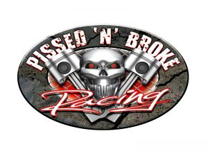 PISSED_N_BROKE_RACING LOGO design