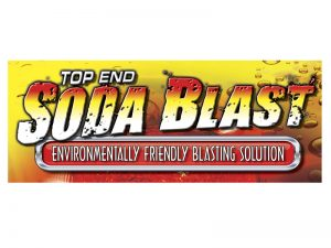 TOP_END_SODA_BLAST LOGO design