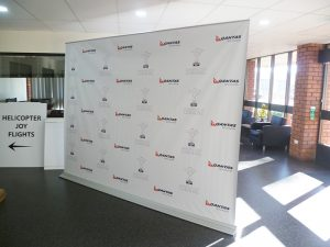 2 metre pullup banner extra wide backdrop