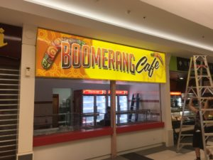 boomerang cafe led sign