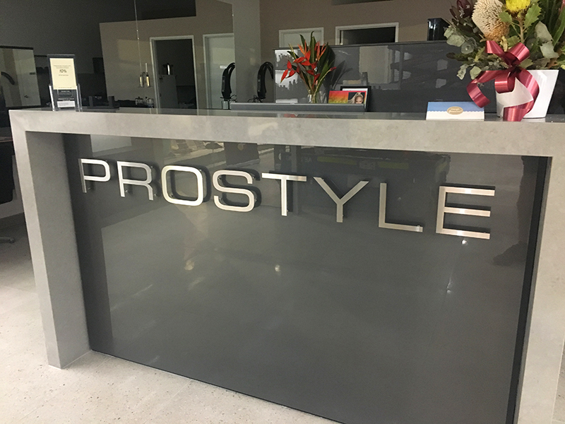 pin fixed stainless lettering